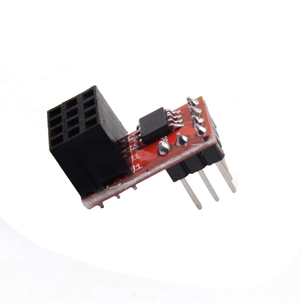 Reprap Ramps1.4 Module d'extension de Ventilateur RRD 20V Max, Module d'extension pour Ventilateur Accessoires pour imprimante 3D Module de Ventilation, 2 canaux Plug and Play - Rouge