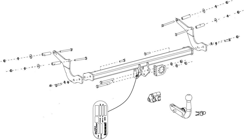 RDSOH boitier /électronique Faisceau Universel 7 Broches 11//12-12//19 Bosal Oris Attelage Renault Clio 4 Berline