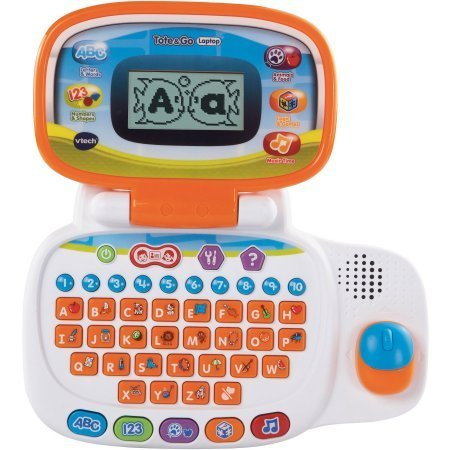 VTech Tote & Go Laptop / The learning laptop has 20 learning activities teach 60+ words, spelling, shapes, logic, animals and more by VTech (Image #3)