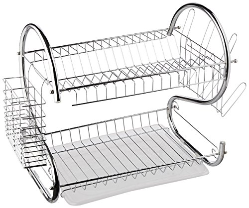 6-Inch, Chrome Plated, S-Shaped, Rust-Resistant, 2-Tier Dishrack ()