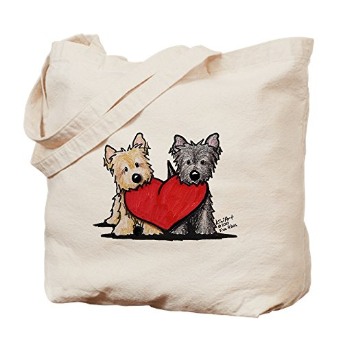CafePress Cairn Terrier Heartfelt Duo Natural Canvas Tote Bag, Cloth Shopping Bag ()