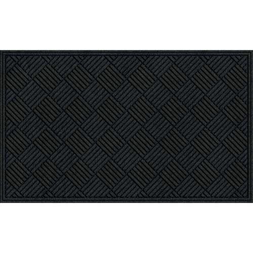 Apache Mills 60-461-1901 Crosshatch Entrance Mat, Charcoal, 3-Feet by 5-Feet