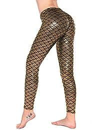 Diamondkit Women's Mermaid Fish Scale Printing Full Length Leggings