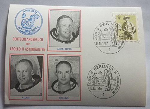 Apollo Space Program Commemorative Postcard Cover JG Autographs COA ()
