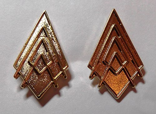 [Battlestar Galactica Captain Gold Collar Rank Pip Set of 2] (Galactica Costumes)