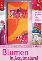 Blumen in Acrylmalerei
