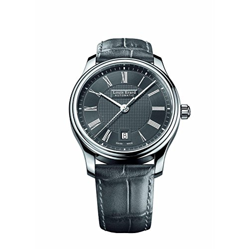 Louis Erard Men's Heritage 40mm Grey Leather Band Steel Case Automatic Analog Watch 69257AA23.BDC36