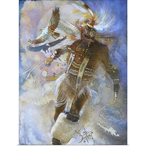 - GREATBIGCANVAS Poster Print Entitled The Eagle Dancer by Denton Lund 30