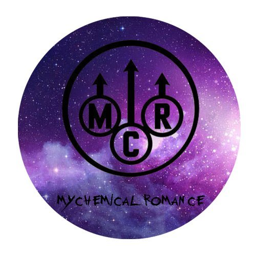 Generic Personalized Famous New Jersey Punk Band My Chemical Romance Galaxy Space Logo for Round Mouse Pad