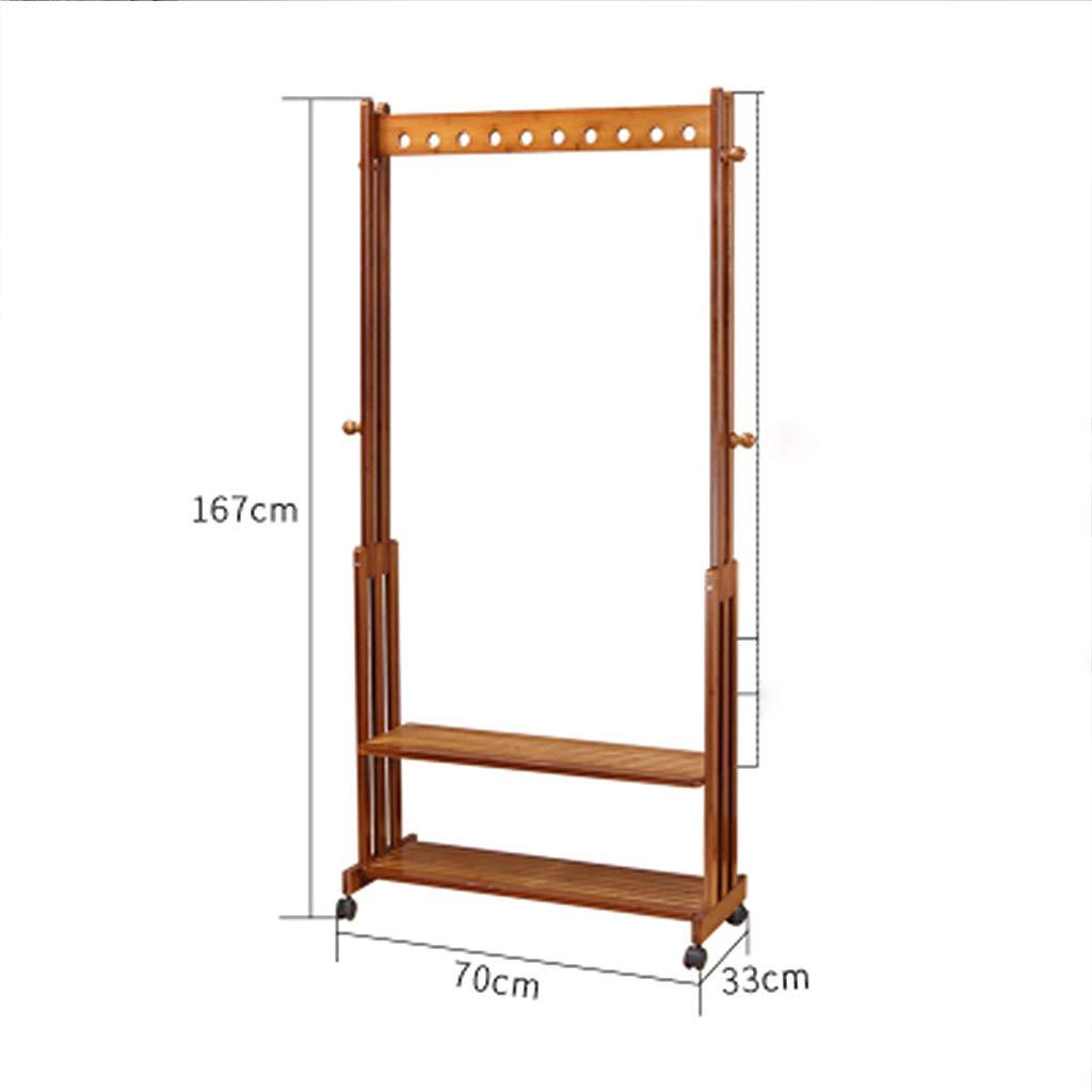Amazon.com: ZHEN GUO - Perchero de bambú para ropa, sin ...