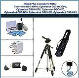Tripod Plus Accessory Kit for Sony Cybershot DSC-HX9V, Sony Cybershot DSC-HX100V, Sony Cybershot DSC-HX7V, Sony Cybershot DSC-H70, Sony Cybershot DSC-H55, Sony Cybershot DSC-HX5, Sony Cybershot DSC-HX1 includes: Flexible Monopod, Universal Adapter, 5PC Le
