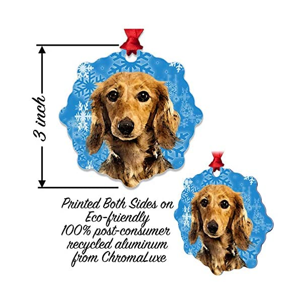 mmandiDESIGNS Dogs Christmas Tree Stocking Metal Ornaments Printed on Both Sides an Image of Your Favorite Family Pet Gift for Dog Mom Dad Owner (Bull Terrier) 3