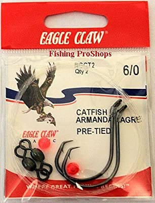 Image result for Eagle Claw 6/0 Catfish Rig - Dual Hooks