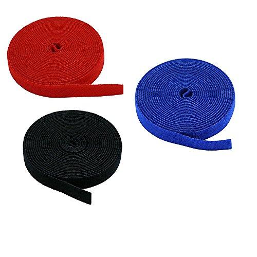 3-Pack Velcro Strips 0.75-inch Hook & Loop Industrial Velcro