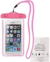 Mini-Factory Universal Waterproof Case for iPhone 6/6s Plus, 5S, 5, 5C, 4S, 4, Galaxy S6, S6 Edge, S5, S4 and More IPX8 Certified to 100 Feet - Pink