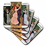 3dRose cst_49362_3 Collage of Renoirs Dance Paintings Ceramic Tile Coasters, Set of 4