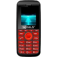 New Sdeals SD200 Unlocked GSM QuadBand Dual-SIM Cell Phone w/ Camera and Led Light, 600mAh Battery,,Bluetooth, FM Radio MP3/MP4 Retail Packaging (RED/BLACK)