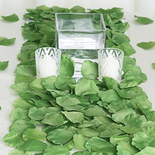 BalsaCircle 2000 Willow Green Silk Artificial Rose Petals Wedding Ceremony Flower Scatter Tables Decorations Bulk Supplies Wholesale