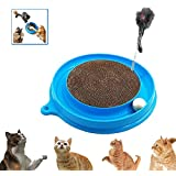 Cat Turbo Scratcher Toy Cat Turbo Toy Post Pad Interactive Training Exercise Mouse Play Toy with Turbo and Ball