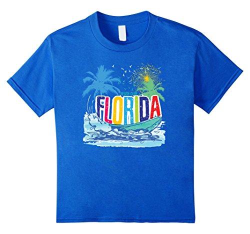 Kids Vintage Florida   Retro Style T Shirt 6 Royal Blue