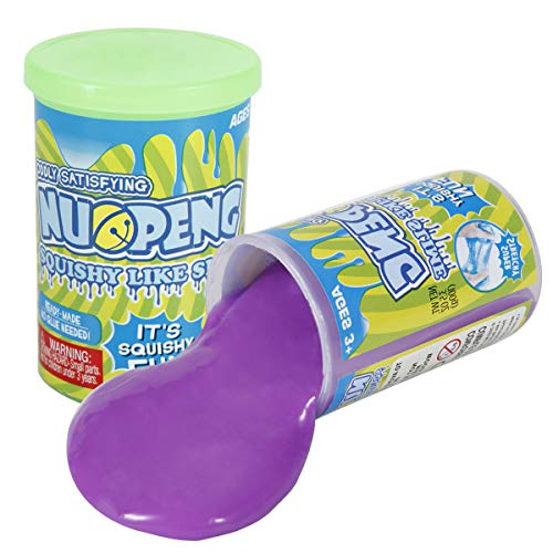 NuoPeng 2 Colors Squishy Like Slime Toy for Boys, Girls Birthday, Christmas Gift (Purple/Green)
