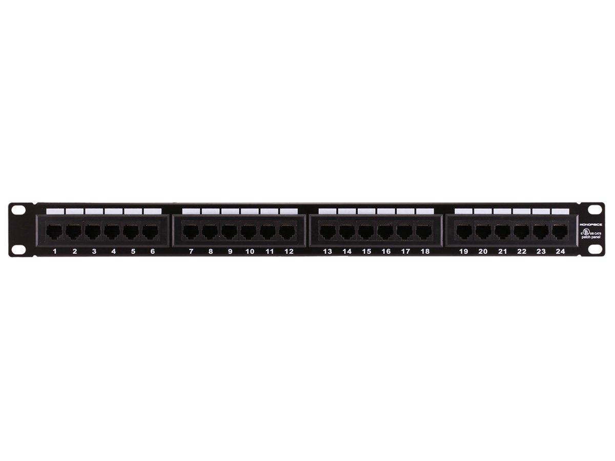 Monoprice 24-port Cat6 Patch Panel, 110 Type (568A/B Compatible)
