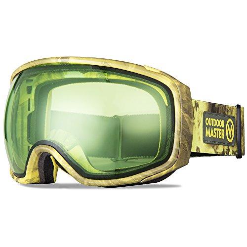 OutdoorMaster Ski Goggles PRO X – Ski Snowboard Goggles TruVis 2X Anti-Fog Lens Men, Women Youth – Helmet Compatible