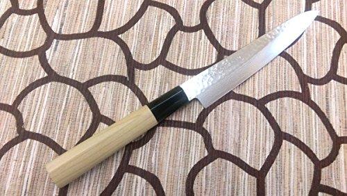 Yoshihiro VG-10 Hammered Damascus, NSW Japanese Chef's Utility Knife /WA Petit Utility Knife Japanese Style 150mm/5.9'' by Yoshihiro