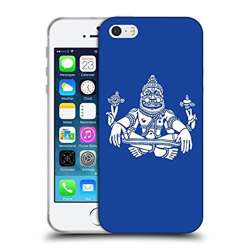 GoGoMobile Coque de Protection TPU Silicone Case pour // Q09550613 Hindou 9 Bleu // Apple iPhone 5 5S 5G SE