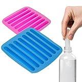 2 Water Bottle Ice Trays Cylinder Shaped Silicone Molds Cube Stick Tube Sports