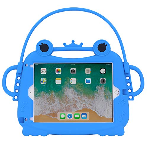 i-original Compatible iPad air 2,iPad 9.7 2017/2018 Silicone Frog Case,iPad air,Pro9.7 Kids Cute case,Shock Proof Soft Silicone Portable Light Weight Protective case (Blue)