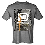 Art Eagle Pattern Men's Classic Short Sleeve Graphic T-Shirts | Newdenber,Charcoal Grey,3xl