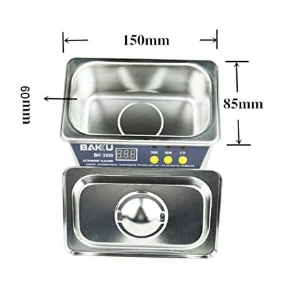 QYY Esterilizador de Limpiador ultrasónico, Pantalla LED ...