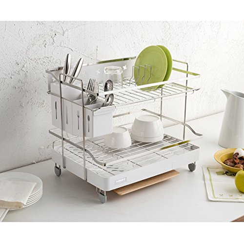 Hanssem Sink Dish Drying Rack Two Tier Shelf Liner Dish Hold