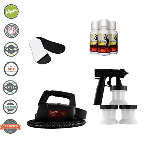 MaxiMist Lite Plus HVLP Spray Tanning System with Free 50 Pair Foot Protectors (Black Foot Pads)