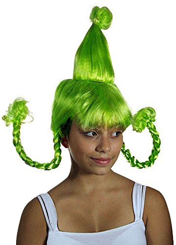 [My Costume Wigs Women's Green Cindy Lou Who Costume Wig (Green) One Size fits all] (The Who Halloween Costume)