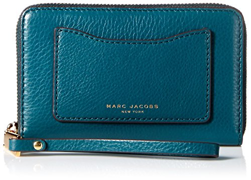 Marc Jacobs Recruit Zip Phone Wristlet, Teal by Marc Jacobs
