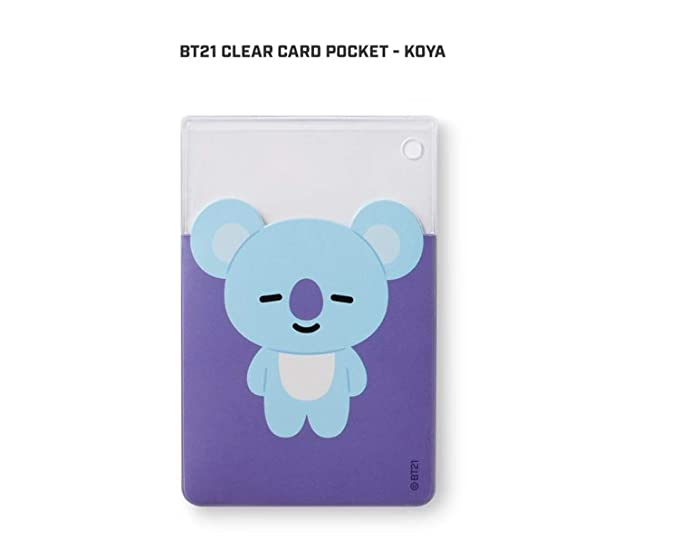Amazon.com: [BT21] Funda transparente para tarjetas de PVC ...