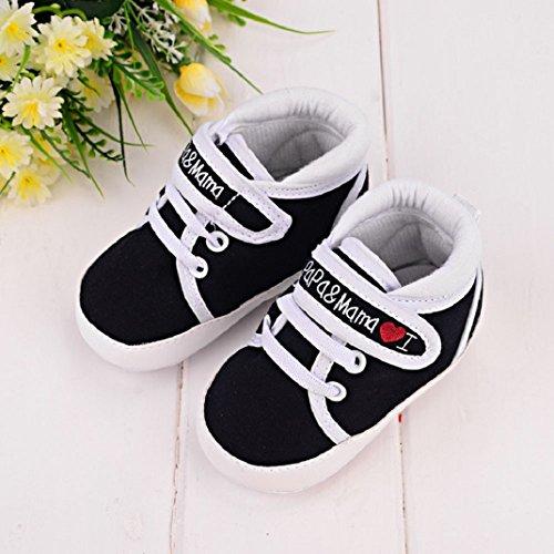 Amison Sohle Leinwand Sneaker weiche Schuhe Mädchen Säugling Baby Junge Schwarz Niedlich Kleinkind Kind Hrqx80wHO