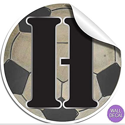 amazon com wall letters h soccer ball letter stickers alphabet