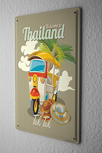 Tin Sign Holiday Travel Agency Thailand by LEOTIE