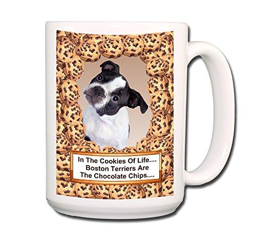 Boston Terrier Chocolate Chip Cookie Coffee Tea Mug 15 oz No 3 Puppy