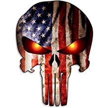 Punisher Skull American Flag Car Motorcycle Bicycle Skateboard Laptop Luggage Vinyl Sticker Graffiti Laptop Luggage Decals Bumper Stickers