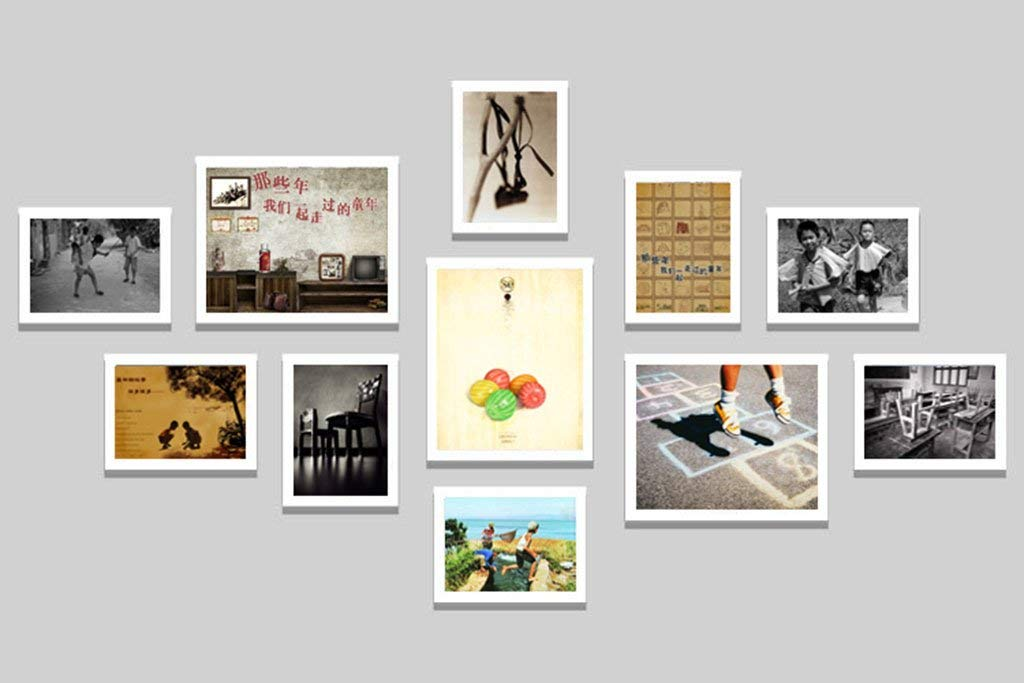 YChoice Retro Nostalgia Photo Wall The Hotel Offers A Restaurant Decorative Paintings Combination of Frames Photo Wall Quality Art Gifts Picture Frames (Color : A) by YChoice