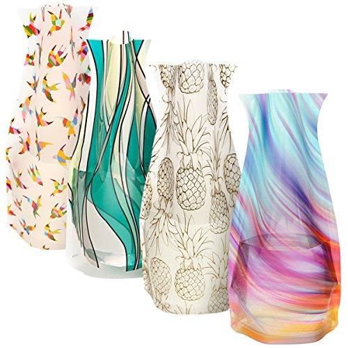 Modgy Collapsible & Expandable Plastic Vase Multi-Pack - NOT GLASS (Expandable Plastic Vase 4-Pack)