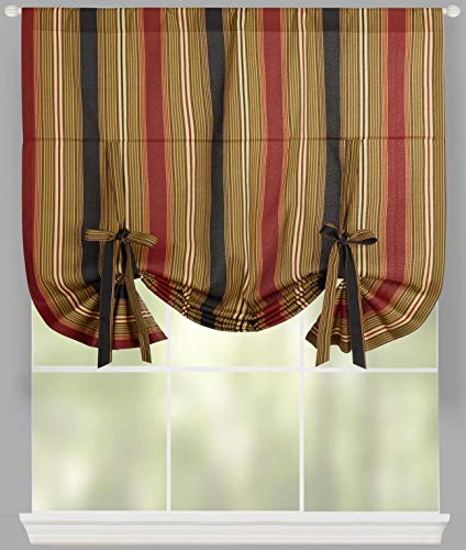 Shade Waverly - Traditions By Waverly Lovers Lane Striped Tie-Up Window Shade, 42
