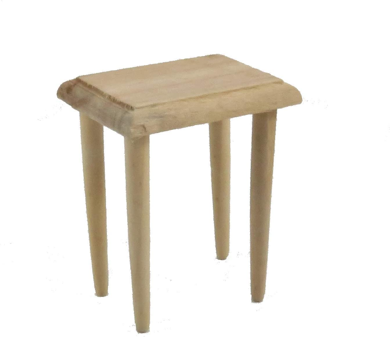 Melody Jane Dolls Houses House Miniature Unfinished Natural Wood Furniture Side Occasional Table