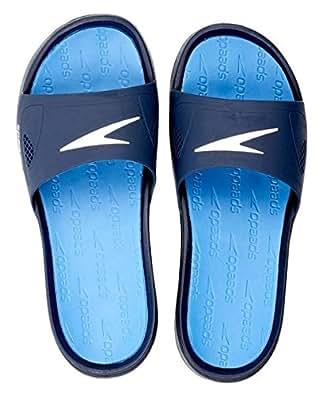 Speedo Shirahama Slide - Chanclas para hombre, color azul marino / blanco, talla 46