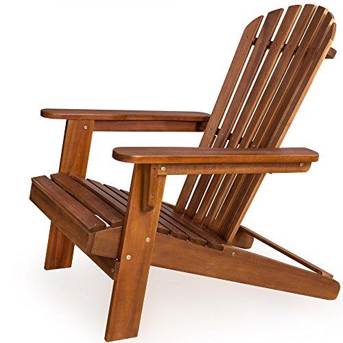 Sonnenstuhl Adirondack aus Akazienholz Liegestuhl Holzstuhl Deckchair