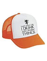 Allntrends Snapback Hat That's What I Do I Drink And I Know Things Cool